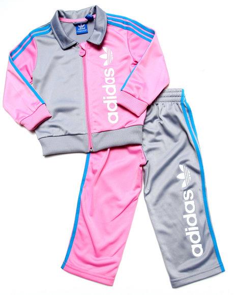Adidas - Girls Pink Firebird Tracksuit - $31.99