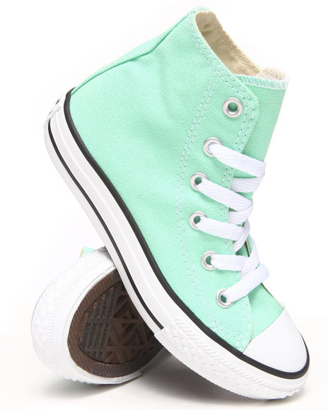 Converse Girls Green Chuck Taylor All Star Hi (11-3)