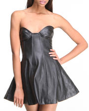 This is a Love Song - Soiree Vegan Leather Dress