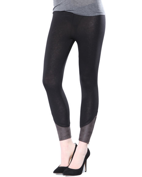 Djp Outlet - Women Black Ankle Detail Legging