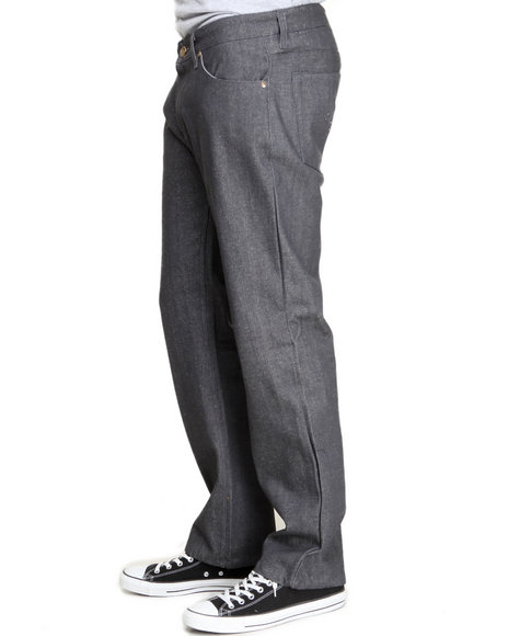 Buyers Picks - Men Grey Ejel Straight - Fit Raw Denim Jeans - $15.99