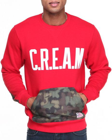 Wu-Tang Limited Red Spray Camo Crewneck Sweatshirt