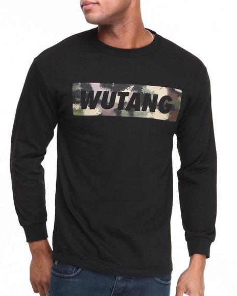 Wu-Tang Limited Black Spray Camo L/S T-Shirt