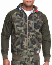 Hoodies - Spray Camo Zip-Up