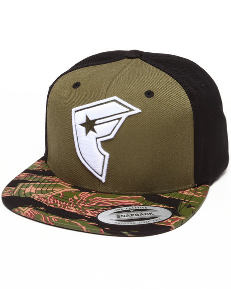 Famous Stars & Straps Official Boh Snapback Hat Camo