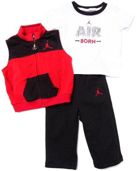 Air Jordan - Boys Red 3 Pc