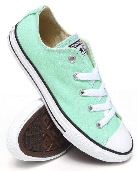 Converse Girls Green Chuck Taylor All Star Lo (11-3)