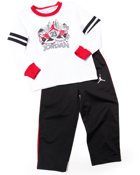 Air Jordan - Boys Black 2 Pc Aj Lil' Sketch Set (2T-4T)