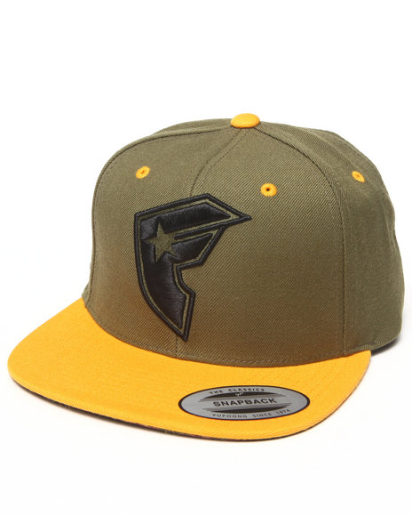 Famous Stars & Straps Official Boh Snapback Hat Olive