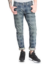 Billionaire Boys Club - H-Stitch Lazer Plaid 5 Pckt Jean