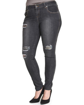 Rocawear - Roc Distructed Print Skinny Jean (Plus)