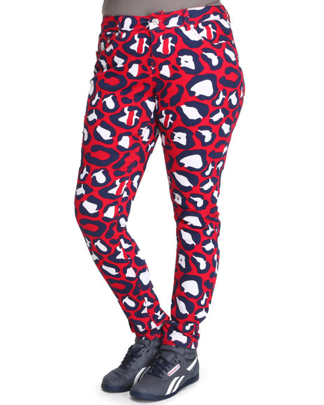 COOGI - Allover Love Coogi Print Skinny Jeans (Plus)