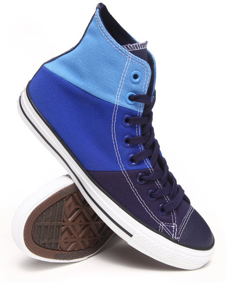 Converse - Men Blue Chuck Taylor All Star Tri Panel Sneakers