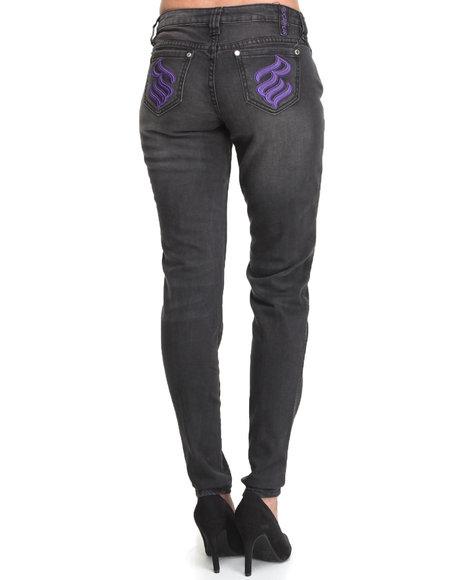 Rocawear Black Silver Injection Skinny Jean