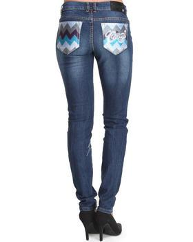 COOGI - Coogi Skinny Jeans w/ Chevron Print Back Pockets
