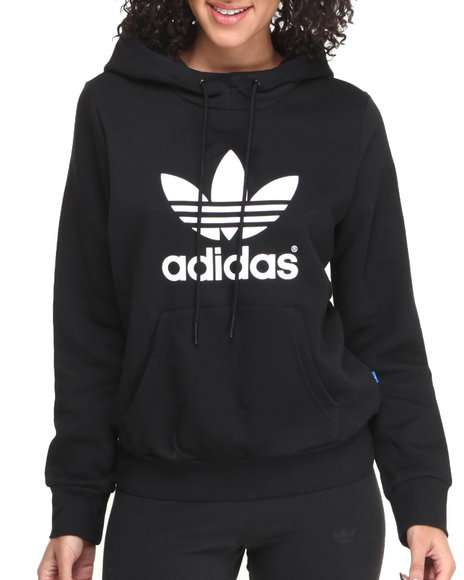 Adidas Black Trefoil Logo Hoodie