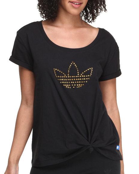 Adidas Black Studs Trefoil Logo Tee