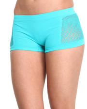 Women - Small Mesh Sides Seamless Boyshorts