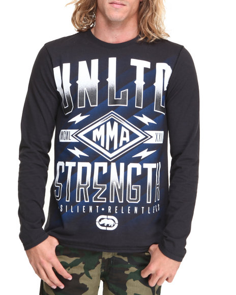 Ecko - Men Black Strength L/S T-Shirt