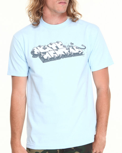 Skate Mental - Men Blue Skate Stopper Tee