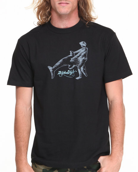 Skate Mental - Men Black Dolphin Style Tee