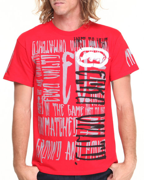 Ecko Red First To Fight T-Shirt