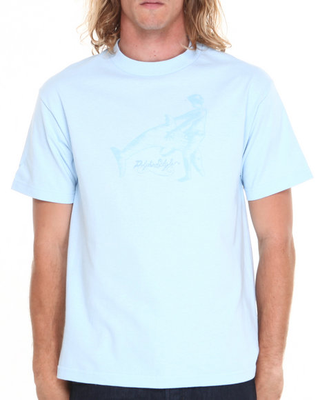 Skate Mental - Men Light Blue Dolphin Style Tee
