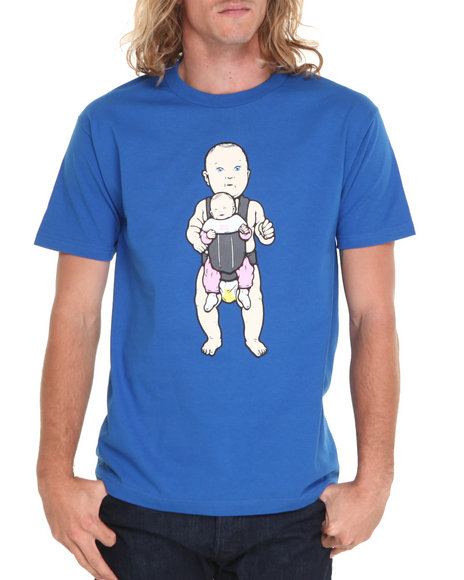 Skate Mental - Men Blue Big Baby Tee