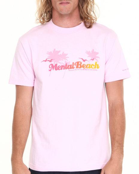 Skate Mental - Men Pink Mental Beach Tee