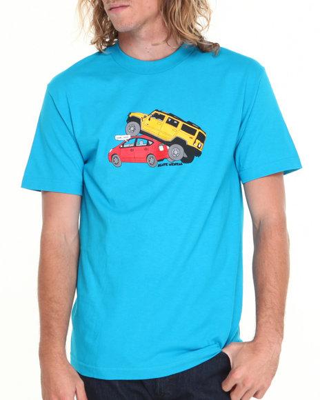 Skate Mental - Men Blue Gasshole Tee