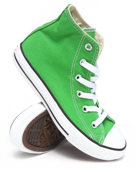 Converse Boys Green Chuck Taylor All Star Hi (11-3)