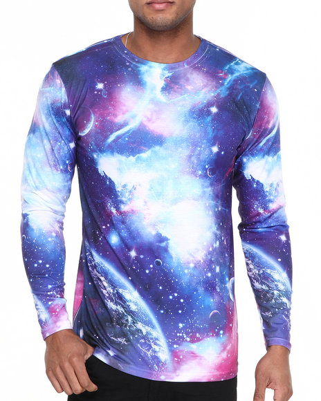 Basic Essentials - Men Multi Galaxy Sublimation Long Sleeve Tee