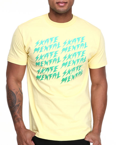 Skate Mental Yellow Bolts Tee