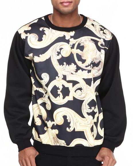 Basic Essentials - Men Black Versahchi Sublimation Crewneck Sweatshirt