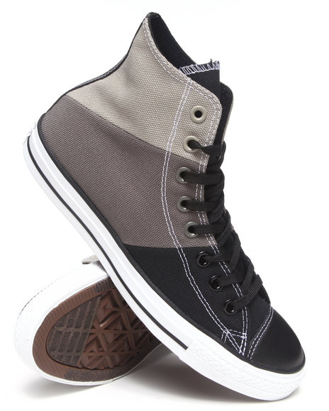 Converse - Men Charcoal Chuck Taylor All Star Tri Panel Sneakers