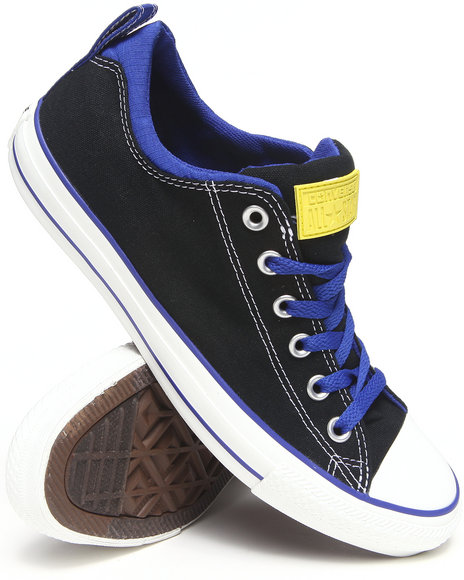 Converse - Men Black, Blue Chuck Taylor All Star Dual Collar Sneakers