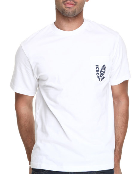 Ice Cream - Men White Tech Team Pocket Tee