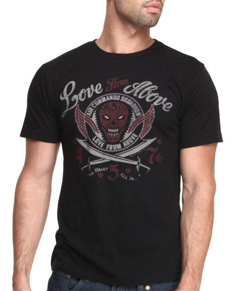 Cockpit Usa - Men Black Love From Above Premium S/S Tee