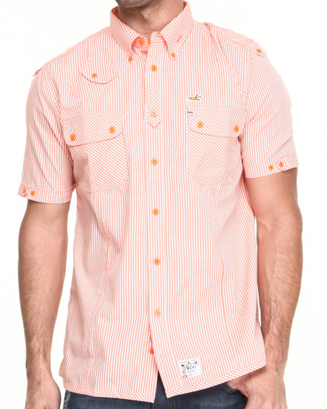 AKOO Orange Filus Woven Short Sleeve