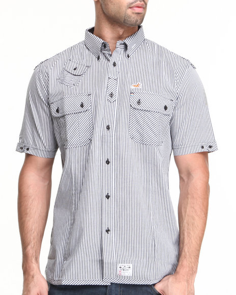 Akoo - Men Black Filus Woven Short Sleeve - $38.99