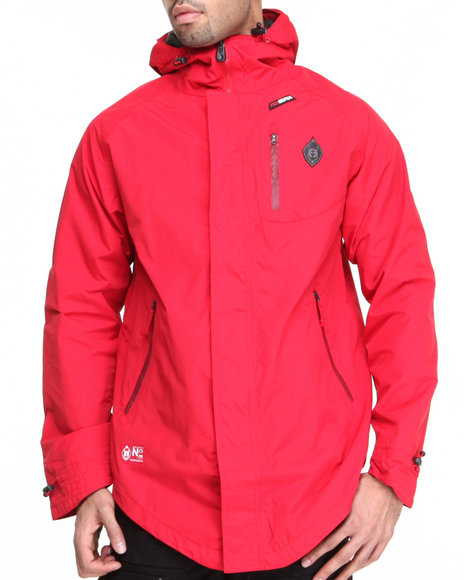 Psyberia - Men Red Internationalist Waterproof Nylon Jacket
