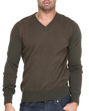 Men - Birdseye V-neck  Premium sweater
