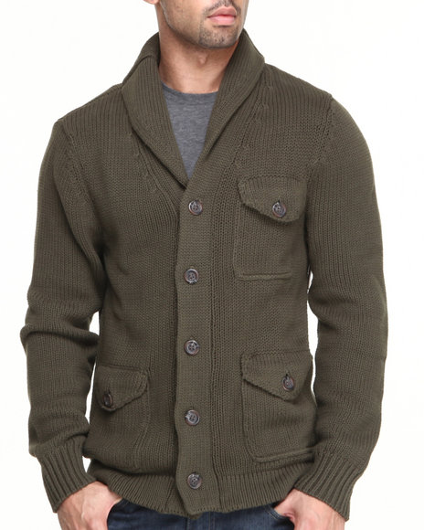 Cockpit USA Olive Grizzly Premium Knit Cardigan