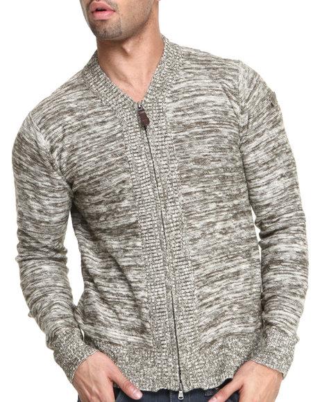 Cockpit USA Olive Travis Premium Snit Zip Sweater