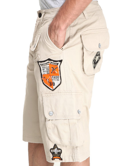 Akoo - Men Khaki Pale Horse Cargo Short