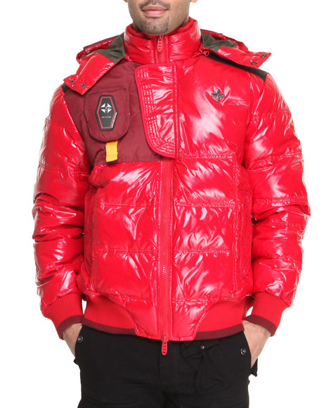 Psyberia - Men Red Psyberian Jacket