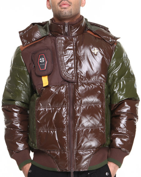 Psyberia - Men Brown Psyberian Jacket