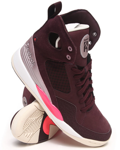 Reebok Maroon Alicia Keys Court Sneakers