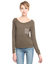 DJP OUTLET - JEWELED POCKET TOP