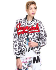 Light Jackets - Candy Leopard Athletic Jacket